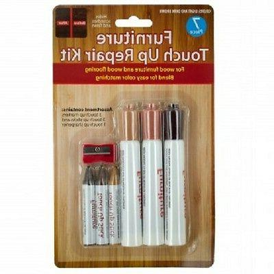 7pc Wood Repair Kit For Furniture & Floors Touch-up Markers