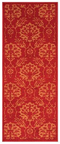 26-inch X 6-feet Non-Skid Rubber Backed Runner Rug | RED - G