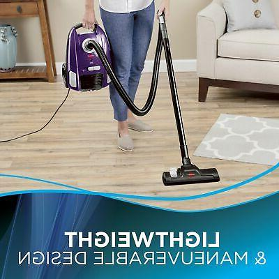BISSELL Bagged Canister Vacuum Purple 2154A
