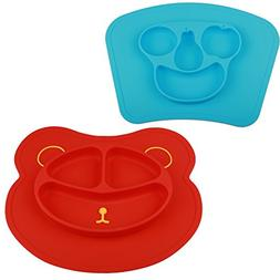 mockins 2 pack Mess Free Silicone Suction Baby Placemat With