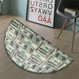 Money Half Round door mats for inside Dollar Bills of United