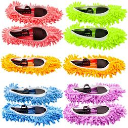 Mop Slippers Shoes Cover, Soft Washable Reusable Microfiber