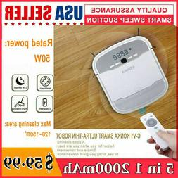 New 5 IN 1 Smart Robot Vacuum Cleaner Auto Cleaning Microfib