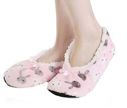 Panda Superstore Non-slip Cotton Floor Slippers Thick Warm S