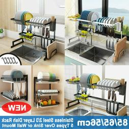 Over Sink Dish Drying Rack Drainer Stainless Steel Kitchen U