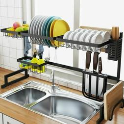 over sink dish drying rack drainer stainless