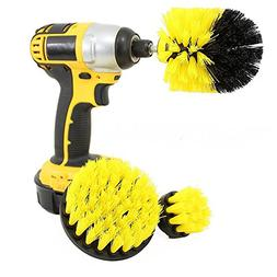 3pcs Power Scrubber Brush Set For Bathroom Cleaning Cordless