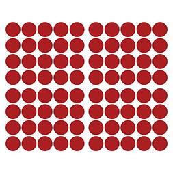 LiteMark 2 inch Red Dot Decal Stickers for Floors and Walls
