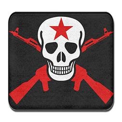 SWEET TANG Red Gun Skull Pattern Door Mat Entrance Mat Floor