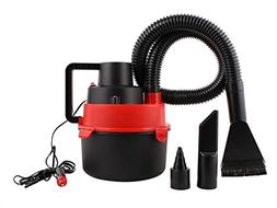 Red Portable 12V Wet & Dry Mini Car Vacuum Boat Canister Cle