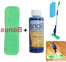 Refillable Spray Mop Kit with Bona Hardwood Floor Cleaner Co