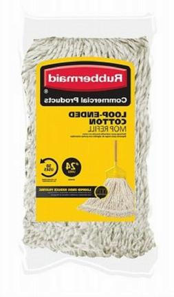 Rubbermaid #24 Looped End Mop Head Refill Replacement Floor