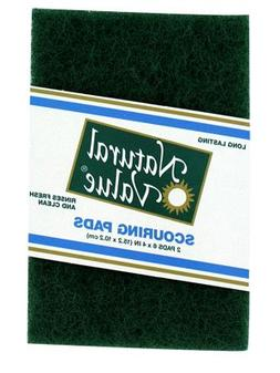 Natural Value Scouring Pads, 2 Pads