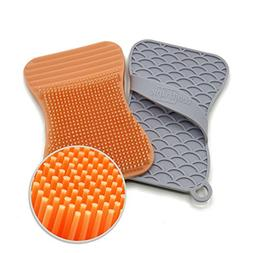 Silicone Sponge and Scrubber for dish, kitchen and bathroom