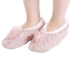 Panda Superstore Soft Cotton Floor Slippers Hand Knitting Sl