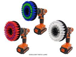 Drill Brush Attachment Set By Beast Brush: Spin Power Scrubb