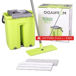 squeezy clean self cleaning flat mop system