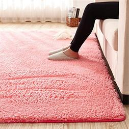 Super Soft Watermelon Red Area Rug Kids Rugs Artic Velvet Ma