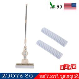 Telescoping Sponge Roller Mop Rubber Floor Cleaner Easy Clea