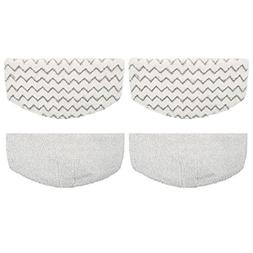 F Flammi 4 Pack Steam Mop Pads Replacement for Bissell Power
