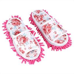 Washable Mop Slippers Detachable Microfiber House Slippers D