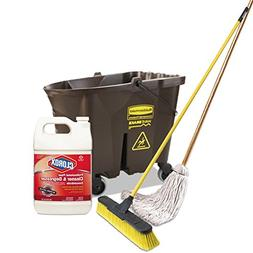 WaveBrake Bucket, Brown, Plastic + Clorox Floor Cleaner And