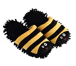 Yellow Stripes Cleaning Slippers Cleaning Floor Brushes,Foot